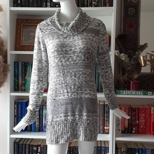 Ab studio knitted sweater dress
